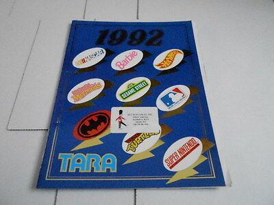 1992 Vintage Catalogue #1502 - Tara Jouet Company - Barbie - Hot Wheels