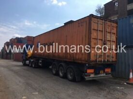 40ft high cube shipping containers - Grade B , steel container, storage container, site container