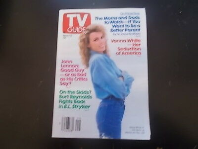 Vanna White  John Lennon   Tv Guide Magazine 1989