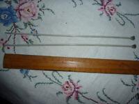 Aero brand size 11 metal knitting needles - 10 inch