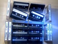 TDK AD CASSETTE TAPES x10 JOB LOT W/ CASES/CARDS, USED ONCE ONLY. JUST ABOUT AS CHEAP AS THEY GET...