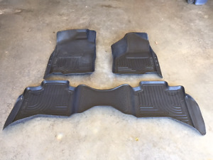 Husky Floor Liner Truck Mats for a Dodge Ram 1500 Quad Cab
