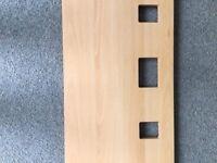 Double Wooden Headboard