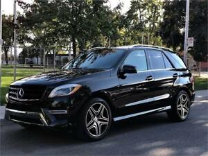 2015 MERCEDES BENZ ML400, 4 MATIC, CUIR, TOIT PANO, MAGS, FULL