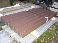 box profile roofing sheet, vandyke brown plastic coated 8ft 10ft 12ft x 1m wide cover