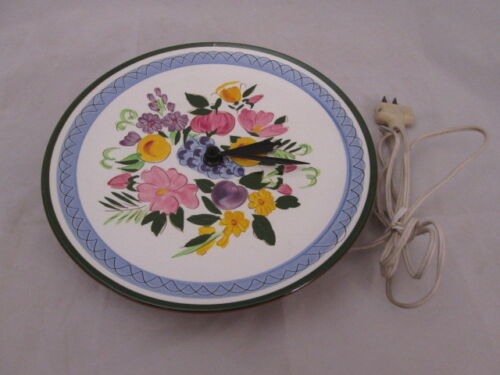 Stangl Fruits & Flowers Plate Electric Wall Clock Beautiful!!!!