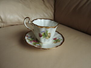 Teacup and saucer - Thistle pattern