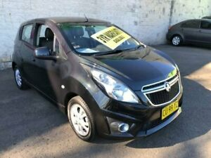 2012 Holden Barina Spark MJ MY13 CD Black Automatic Hatchback Lidcombe Auburn Area Preview