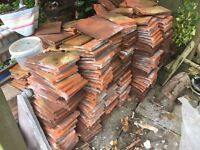 Terracotta roof tiles. About 500.