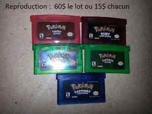Lot jeux Pokemon Gameboy Advance
