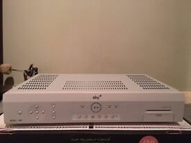 Sky+ box complete with all leads (mains and scart) plus remote control
