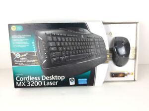 Logitech Mx3200 Desktop Keyboard Mouse Laser Combo W/ Display Re