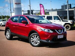 2017 Nissan Qashqai J11 ST Red 1 Speed Constant Variable Wagon