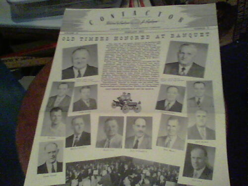 Feb 1952 Contactor Reliance Electric newsletter Ashtabula Old Timers Honored