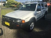 2001 Ford Courier PE XL (4x4) White 5 Speed Manual 4x4 Crewcab Macquarie Hills Lake Macquarie Area Preview
