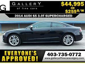 2014 Audi S5 Supercharged 3.0 $259 bi-weekly APPLY NOW DRIVE NOW