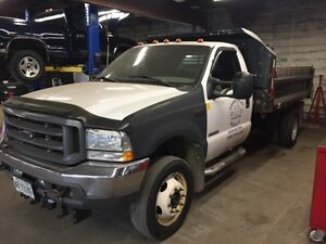 2004 Ford 550 4x4 with dump Cambridge Kitchener Area image 1