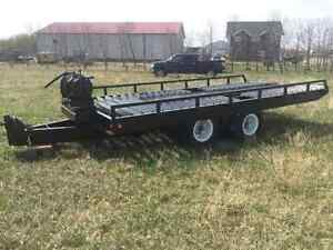 MILLER 30,000 POUND TILTING TRAILER AND WINCH