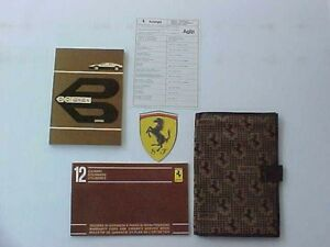 Ferrari-512-Owners-Manual-Pouch-Warranty-Card-Manual-512-BBi-Fabric-OEM