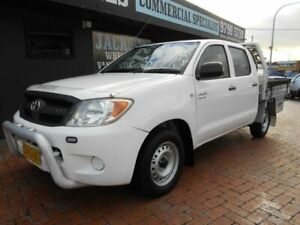 2007 Toyota Hilux GGN15R 07 Upgrade SR White 5 Speed Automatic Dual Cab Pick-up Croydon Burwood Area Preview