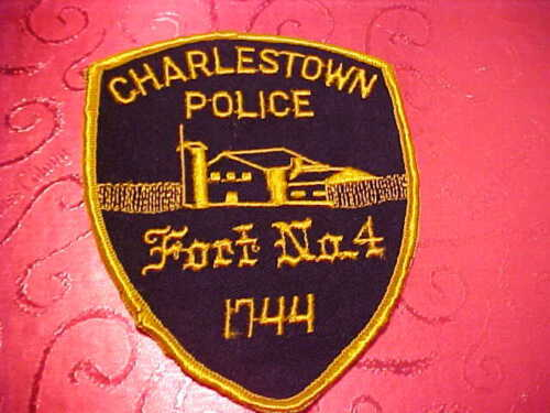 CHARLESTOWN NEW HAMPSHIRE POLICE PATCH SHOULDER SIZE UNUSED