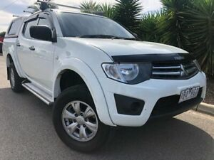 2013 Mitsubishi Triton MN MY14 GLX (4x4) White 5 Speed Manual 4x4 Double Cab Utility Hoppers Crossing Wyndham Area Preview