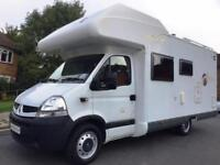 REDUCED 2007 6-berth Pilote Renault Mooveo C647 motorhome for sale, bunk beds
