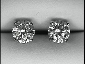 canadian diamonds studs earrings 0.50 carat