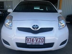 2011 Toyota Yaris NCP90R MY11 YR White Automatic Hatchback Garbutt Townsville City Preview