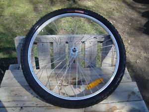 Excellent Condition: Front Locking Wheel With Tire, 26 x 2.10