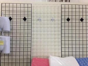 Grid Wall, Panels, grids, slat grids, slat wall, hooks