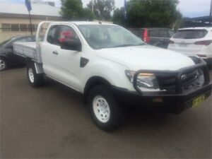 2013 Ford Ranger PX XL Super Cab White 6 Speed Manual Cab Chassis