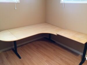 IKEA EXECUTIVE OFFICE DESK AND 2 DRAWER CABINET