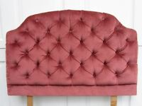 Single bed headboard in pink - free to collect