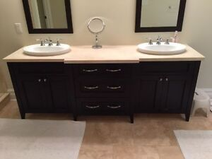 Vanity- Double Sink - Sinks, hardware & counter included