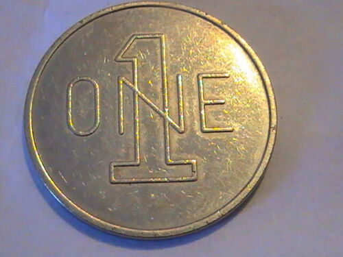 """TOKEN RYKO ONE CAR WASH LARGE """"1"""" AND """"ONE"""""""