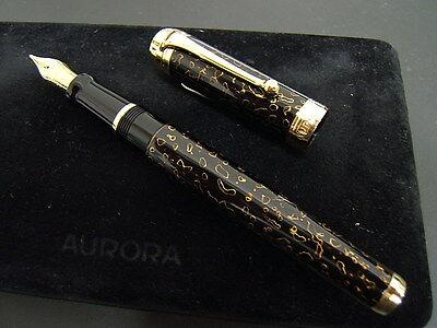 Aurora Urushi Kara-Nuri Limited Edition Fountain Pen~NIB Rare/Limited