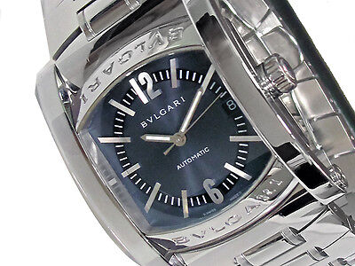 34mm Bvlgari Assioma Watch Stainless Steel Box & Paper *Must See*
