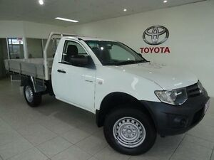 2011 Mitsubishi Triton MN MY12 GL White 5 Speed Manual Cab Chassis Westcourt Cairns City Preview