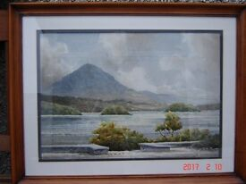 """WATERCOLOUR PAINTING BY LOCAL ARTIST THE LATE BOBBY ANDERSON 14"""" X 20"""""""
