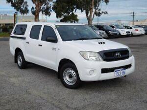 2009 Toyota Hilux KUN16R MY10 SR 4x2 White 5 Speed Manual Utility Wangara Wanneroo Area Preview
