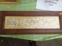 Now I Lay Me Down To Sleep - Country Sign - Exc. Condition