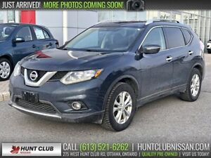 2015 Nissan Rogue SV | Panoramic Moonroof, Htd Seats, Bluetooth