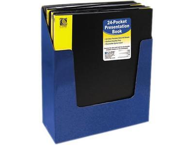 C-line 33240 Bound Sheet Protector Presentation Book 24 Sleeves 11 X 8-12 Bl