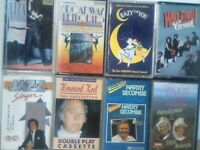 STAGE MUSICALS, CONCERT HALL PERFORMERS ETC L MINNELLI, H SECOMBE, H KEEL PRERECORDED CASSETTE TAPES