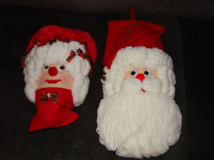 Wall Accents - Mr. and Mrs Claus (Homemade)