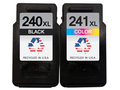 Canon Pg 240Xl   Cl 241Xl 1B 1C Remanufactured Ink Cartridges Shows Ink Levels