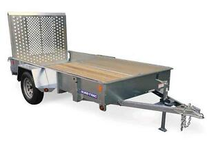High Sides Galvanized  5x10 Trailer