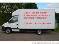 Cheap Man & Van Hire House Moving Van Office Removals Rubbish Clearance Delivery Man with Van London