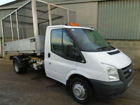 Ford Transit 350 TDCi 140hp single cab alloy drop side cage tipper 2010 60 reg